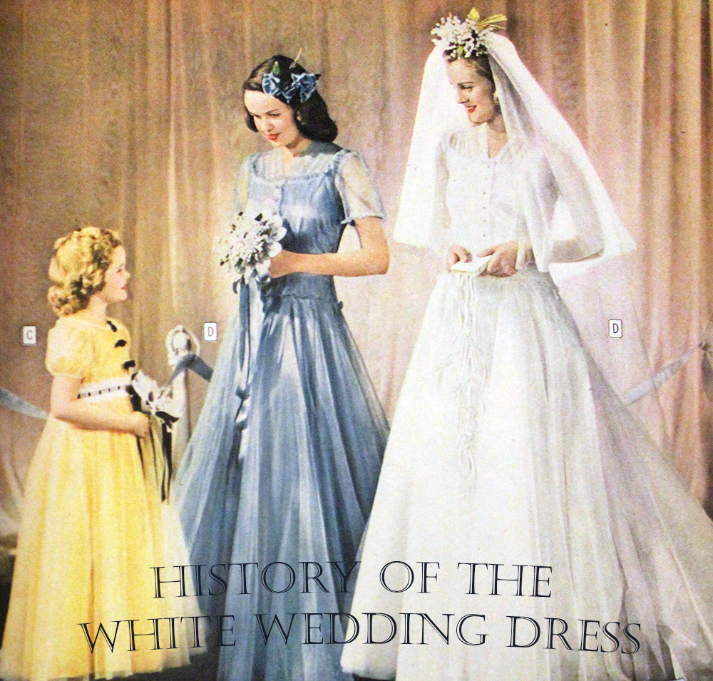 History of the white wedding dress the azazie blog for Origin of white wedding dress