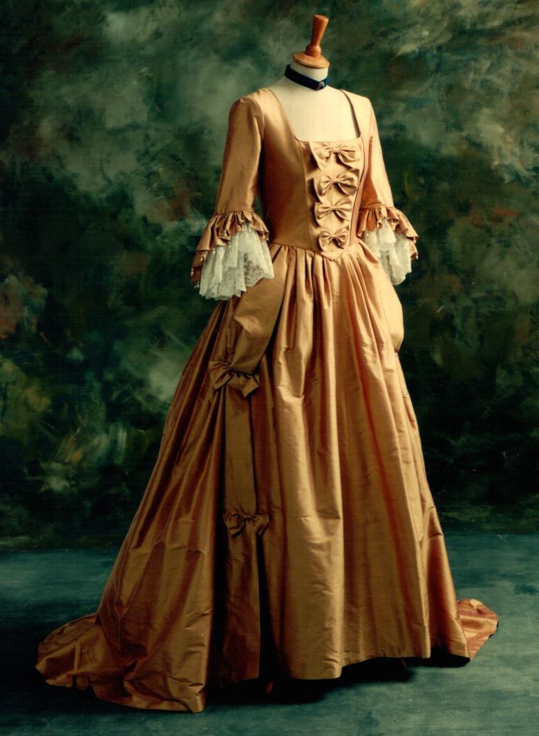 History Of White Wedding Dresses : Gold eighteenth century alternative wedding dress